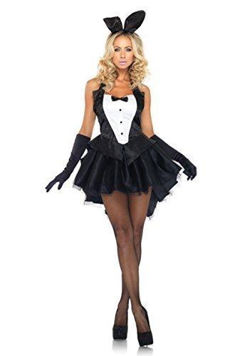 5 Stück Sexy Playboy-Bunny Qualität Kostüm Kleid Ohren Tanga Handschuhe Größe - Bunnys Kostüme