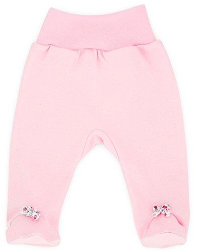 Baby-Mode Mädchen Hose mit Fuß -Kollektion Small Bow 08117- (62)