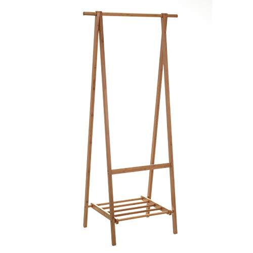 Perchero de Suelo nórdico marrón de bambú para Dormitorio de 158 cm Basic - LOLAhome