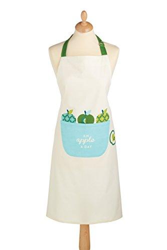 Kitchen Craft Apple A Day Kochschürze aus Baumwolle, - Apple-weiß-kleidung