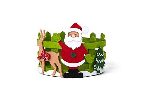 Dmail - cestino tondo natalizio - colore verde