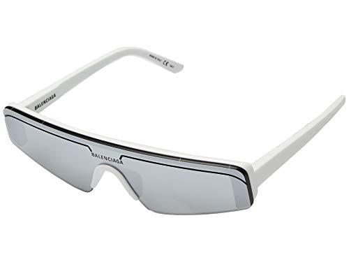 Balenciaga Sonnenbrillen BB0003S White/Silver Unisex