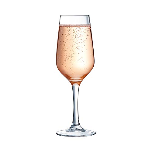 Arcoroc C3569 Flute à champagne Linéal 18 cl, verre trempé Transparent