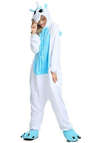 KiKa Monkey Flannel Animal Onesie Adult Costumes Licorne Pyjama Cosplay (S, Rosa) Aile Bleue