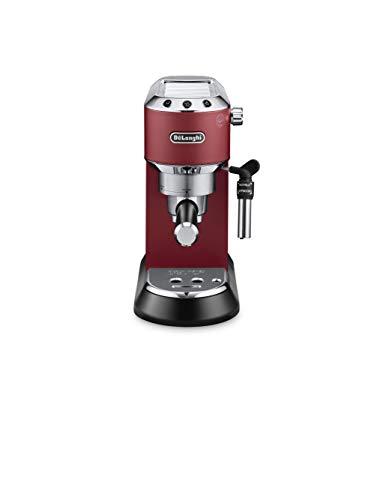 Delonghi EC685.R Macchina per caffè espresso manuale, 1350 W, Acciaio inissidabile/Plastica, Rosso