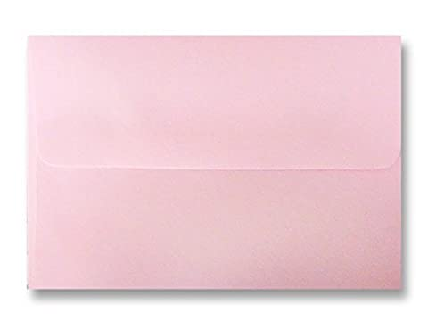 Free Shipping 100 Boxed Baby Pastel Pink Envelopes for 5 X 7 Greeting Cards, Invitations & Announcements Showers from The Envelope Gallery by The Envelope Gallery