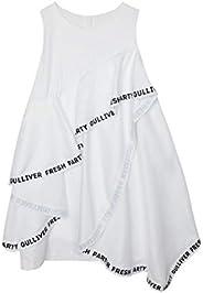GULLIVER Vestito Bambina Abiti Ragazze da Festa Compleanno Bianca Principessa Senza Maniche per 9-14 Anni