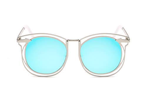 ZJWZ Metal-DoppelKreis Pfeil Sonnenbrille Trendiger Farbfilm Sonnenbrille Retro Sonnenbrille,NO7