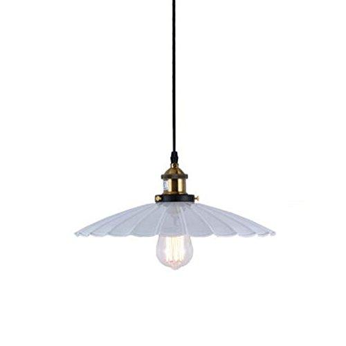 DPG Lighting Lampada a sospensione vintage bianca Lampada da campagna antica lampada a sospensione in loto per soggiorno