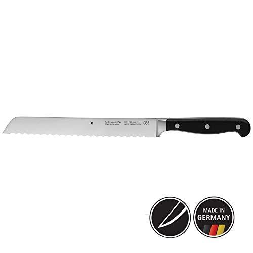 WMF Spitzenklasse Plus Brotmesser, mit Wellenschliff 31,5 cm, Spezialklingenstahl, Messer geschmiedet, Performance Cut, Kunststoff-Griff vernietet, Klinge 20 cm