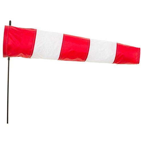 HQ Windspiration 109204 - Windsock Airport 100, UV-beständiges und wetterfestes Windspiel - Höhe: 120 cm, Länge: 100 cm, Ø: 22 cm, inkl. Aufhängung und Bodenanker