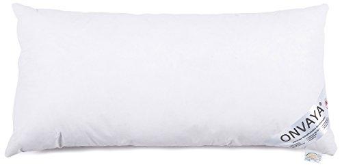 ONVAYA Evolon® Premium Allergiker Kissen 40 x 80 cm | Kopfkissen | Hausstauballergie | Milbendicht | Milbenschutz | Antibakteriell | Atmungsaktiv | Made in Germany