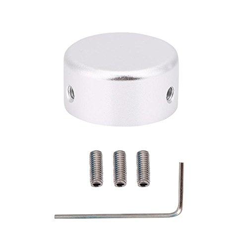 Dilwe Gitarre Fuß Nagel Cap, Aluminiumlegierung Gitarre Effekte Pedal Fußschalter Schutzkappe mit Schraubenschlüssel Teile(Silber)