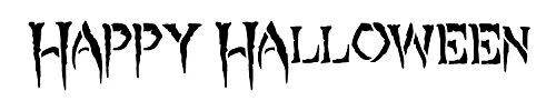 Happy Halloween-Creepy-Wort Schablone-50,8cm X 41/5,1cm-stcl1290_ 3von studior12 (Worte Happy Für Halloween)