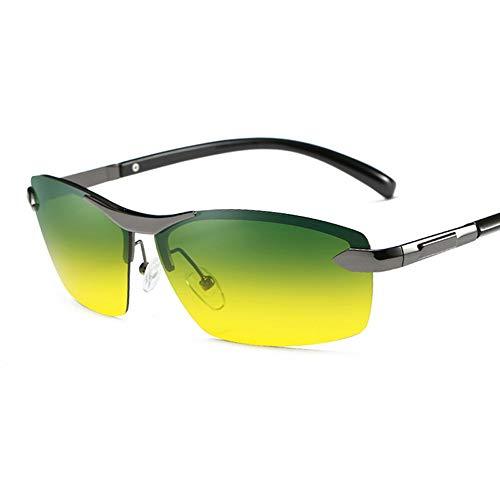 Fahren bei Tag und Nacht bei kombinierter Verwendung Polarisierte Sonnenbrille mit Laufwerk Erleichtern Sie die Scheinwerfer und sichern Sie die Sicht Brille (Color : Grau, Size : Kostenlos)