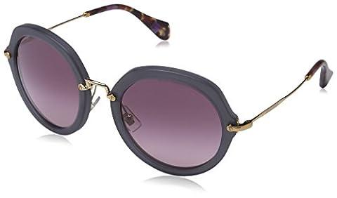 Miu Miu Women's MU 05QS 05QS Round Sunglasses, TWH3G2, Sand Opal Grey frame, Light Pink Gradient lens