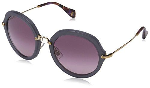 Miu Miu Damen MU 05QS 05QS Rund Sonnenbrille, TWH3G2, Sand Opal Grey, Light Pink Gradient