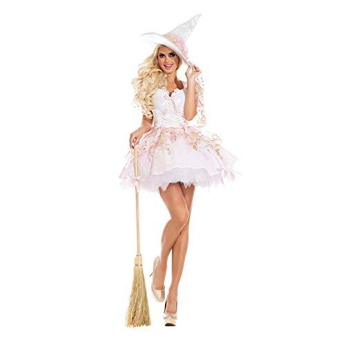 Deluxe Rosa Hexe Kostüm - QAQBDBCKL Deluxe Erwachsene Frauen Sexy Rosa