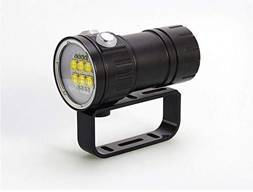 TQ Tauchen Taschenlampe, 300W professionelles fotografisches Fülllicht, rot-blaues Licht High Power unter Wasser 80 Meter IPX8