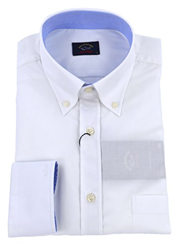 Paul & shark uomo camicia button down bianco p18p3014 010-26320 - 40
