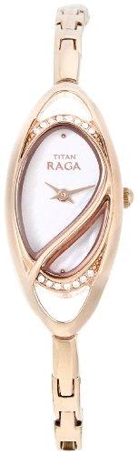 Titan Raga Analog White Dial Women's Watch - NE9935WM01A image