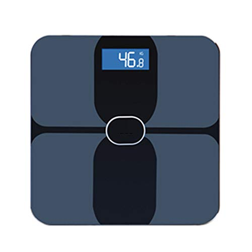 HDLWIS Haushaltsgewichtsskala, Multifunktionale ITO Bluetooth-Körperfettskala intelligente elektronische Skala menschlichen Körper teilen Skala