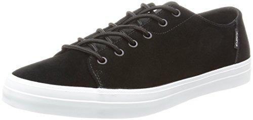 DVS Shoes Edmon, Chaussures de Skateboard Homme Noir - Schwarz (Black White 001)