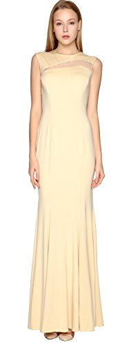 MACloth Sheath Jersey Simple Prom Dress Cut out Formal Party Evening Gown Menthe
