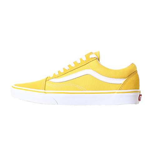 chaussures-vans-old-skool-suede-canvas-jaune-blanc-taille-39