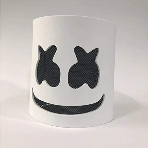 Dj Marshmallow Light Mask Modische Halloween Party Nachtclub Eva White Mask Adult Cosplay Kostüm Helm