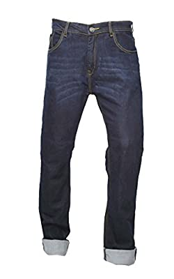 GBG ENGINEERED BLUE Motorcycle Armour Trouser Jeans With Protective Lining Slim Fit Stretch