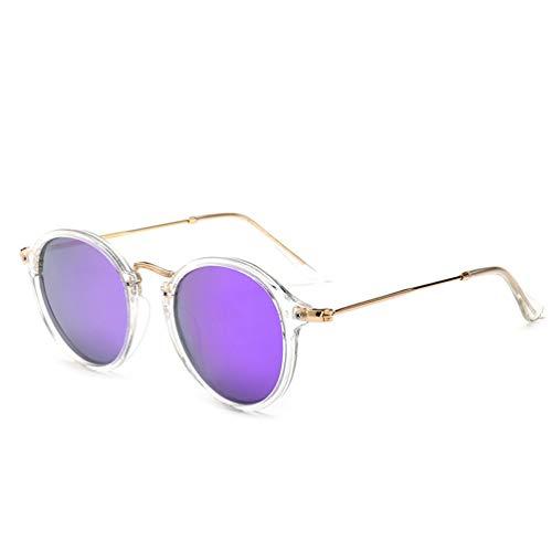 YWYU Metall rundes Gesicht Sonnenbrillen, Retro Fahrer polarisierte Sonnenbrillen Unisex, personalisierte Sonnenbrillen UV400 Schutz für Shopping Beach (Farbe : C)