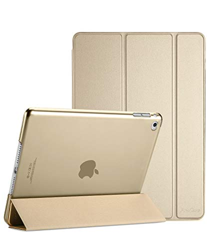 ProCase iPad Mini 4 Hülle - Ultra Slim Leichter Standcase mit Translucent Frosted Back Smart Cover für 2015 Apple iPad Mini 4 (4. Generation iPad Mini, mini4) –Gold