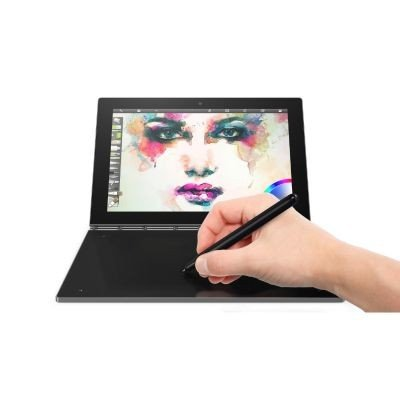 Lenovo Yoga Book 25,65cm (10,1 Zoll Full HD IPS Touch) 2in1 Tablet (Intel Atom x5-Z8550 Quad-Core, 4GB RAM, 64GB eMMC, Android 6.0, 2MP+8MP Kamera, Dolby Atmos) grau inkl. Halo Tastatur und Real Pen