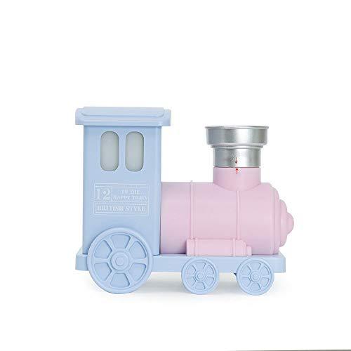 TIB Heyne Small Train Humidifier Mini USB Silent Humidifier Retro Lokomotive Atomizing Humidifier Gift,Pink