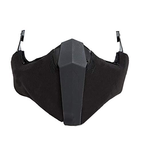 Haunen Taktische Airsoft Halbe Maske Gesichtsschutz Maske Mesh Maske für Helmschiene Airsoft Paintball CS -