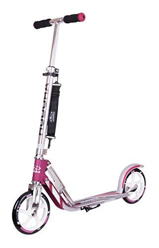 HUDORA 14764/01 BigWheel 205-Das Original mit RX Pro Technologie-Tret-Roller klappbar-City-Scooter, Magenta/Silber