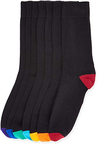 find. 7 Pack Ankle Sock, Calcetines Hombre, Multicolore (Black), 39-43.5 (Talla fabricante: 39-43.5 )