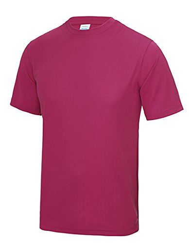 Just Cool - Performance T-Shirt, atmungsaktiv S,Hot Pink (Hot Rosa T-shirt)