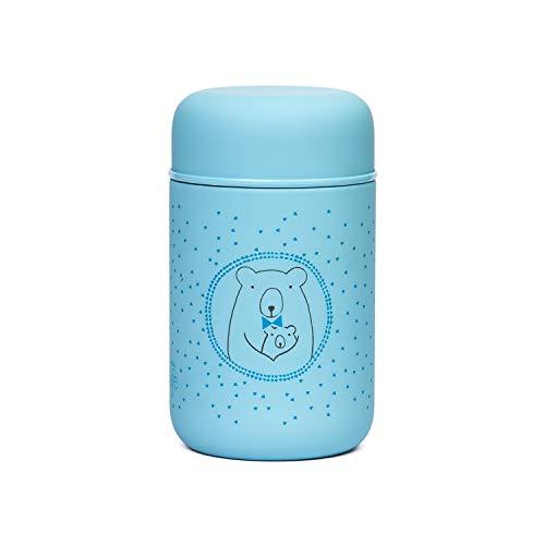 Suavinex - Termo Papillero Para Bebé. Acero Inoxidable. Cierre Hermético, 350ml Color Azul