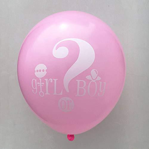e Quaste Garland Papier Blume Banner Junge oder Mädchen Brief Latex-Ballon-Geschlecht Decken Party-Dekoration ()