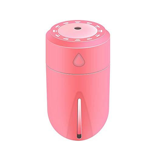 Mini USB umidificatore Mist Maker umidificatore Luce Notturna Colorata Auto purificatore d'Aria Accessori for Ufficio a casa Accessori Auto MJZGYY (Color : Rosa, Size : Gratuito)