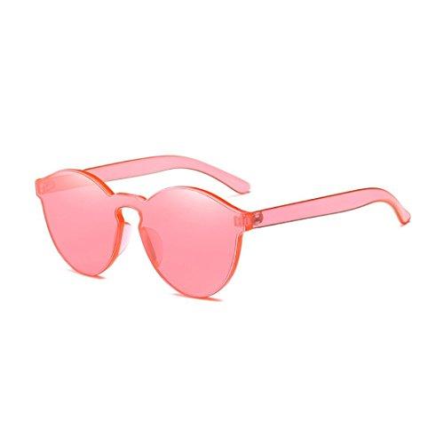 HLHN Damen Vintage Retro Mode Cateye Sonnenbrille Marke Classic UV-Süßigkeit farbige Gläser Reise-Sonnenbrille (Wassermelonen Rot)