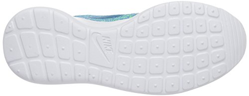 Nike - Roshe One Flyknit, Scarpe da ginnastica Donna Turchese (Electric Green/Bl Lgn-Glcr Ic)