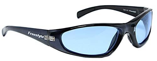 Sonnenbrille 400 UV Freestyle Markenbrille sportlich blau getönt Silikonauflagen -
