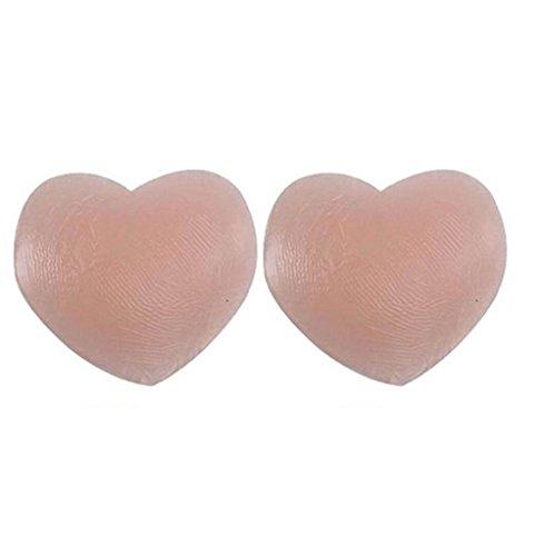 duode Zeit Frauen wiederverwendbar selbstklebend Silikon Nipple Covers multi-shaped Stilleinlagen Petals Pasties (rund)
