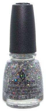 China glaze Nail Lacquer - Disco Ball Drop, 14 ml (Red Disco Balls)