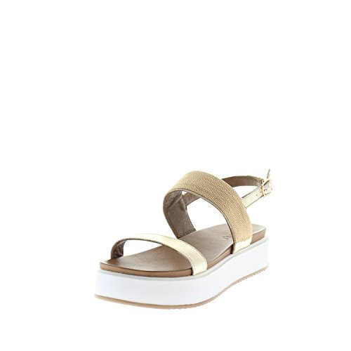 Inuovo Damen 7280 Plateausandalen gold silber bronce