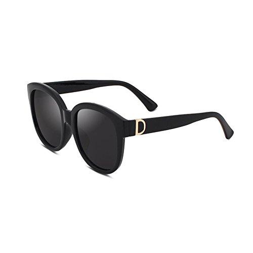 Honey Fashion Polarized Damen Sonnenbrille - Großer Rahmen - Spiegel Reflective Shade Glasses (Farbe : C)