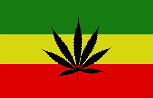 Marihuana Flag 150 x 90 cm Satin Doppelte Nähte ()
